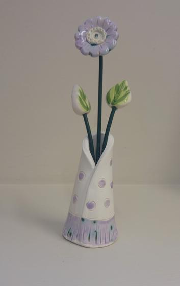 Purple Spot Stem Vase